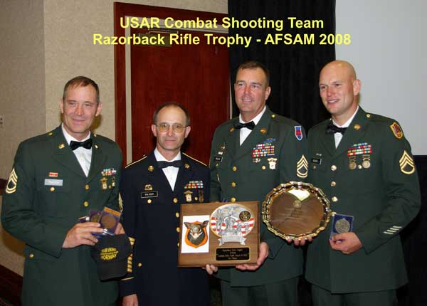 Razorback Trophy from 2008  AFSAM (Armed Forces Skill-At-Arms Meeting).