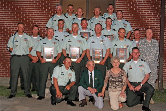 2008 USAR Service Rifle Team at Camp Perry with Hilton Trophy plaques.