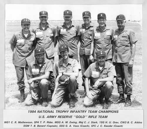 1984 National Trophy Infantry Team Winners