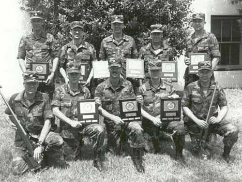 USAR International Rifle Team at 1986 Interservice International Rifle Championships at Fort Benning.